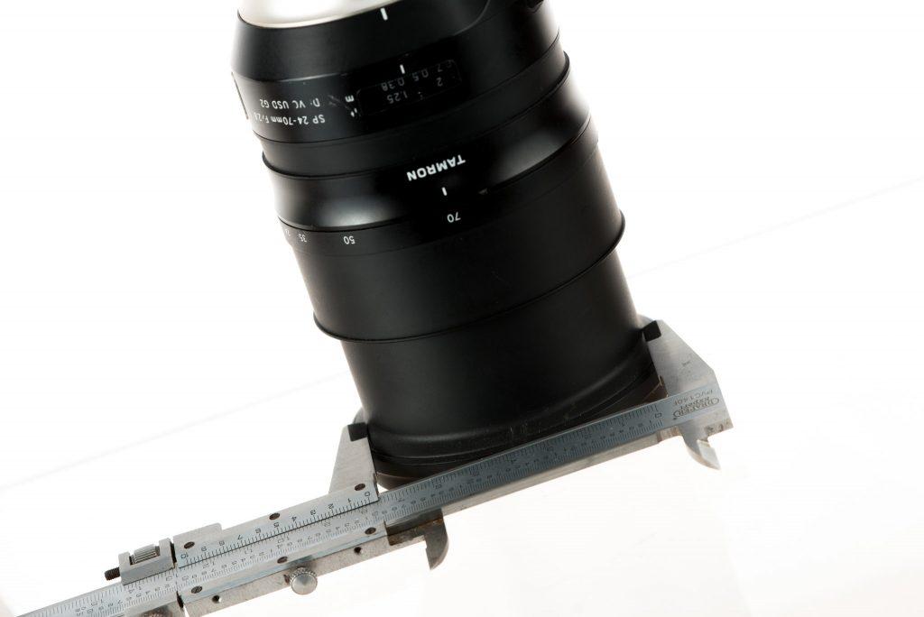 Taking measurements of lens