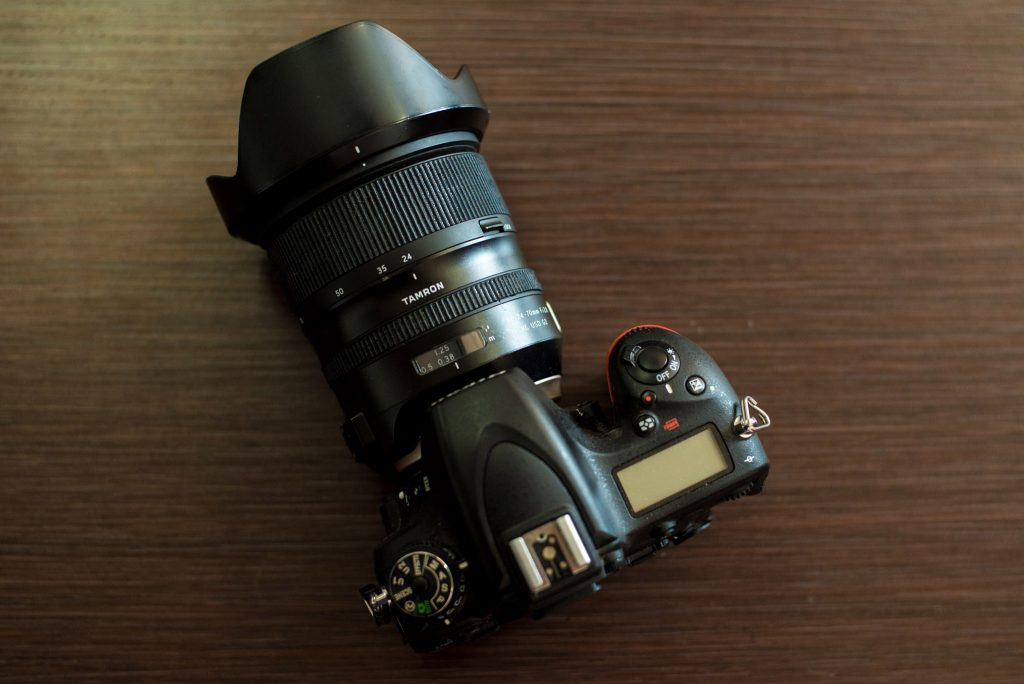 nikon D750 with 3D printed zooom rings