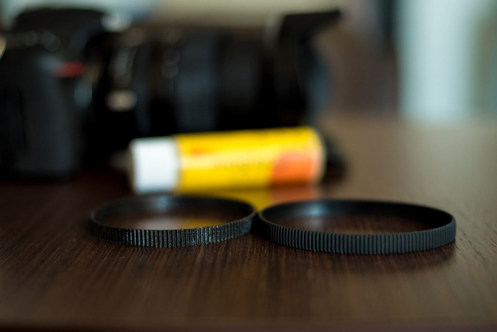 3D printed lens ring and original ring