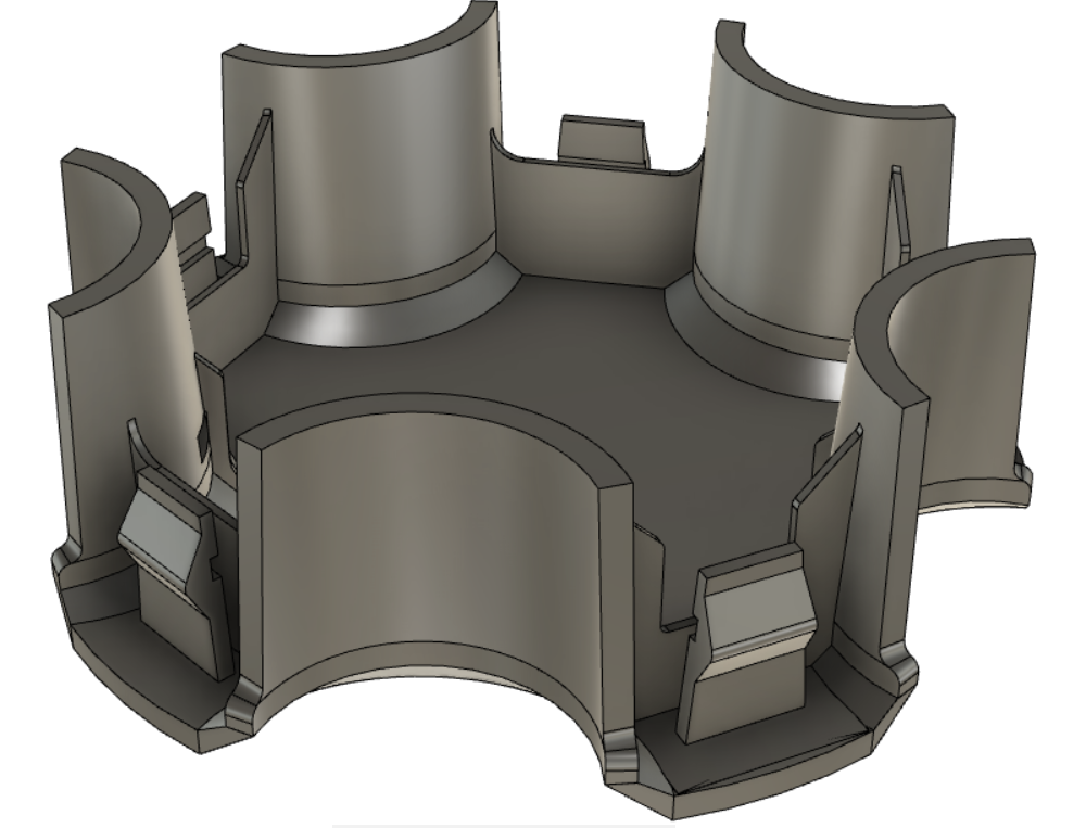 3D printing Application: Hubcap replacement, final design